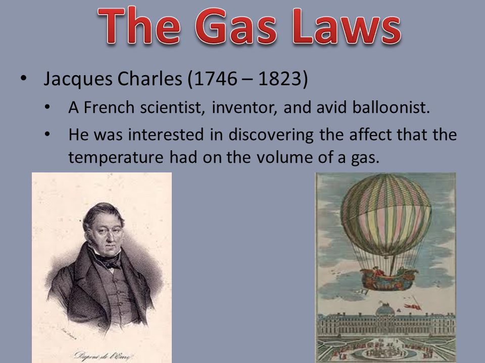 Jacques Charles (1746 – 1823) A French scientist, inventor, and avid balloonist.