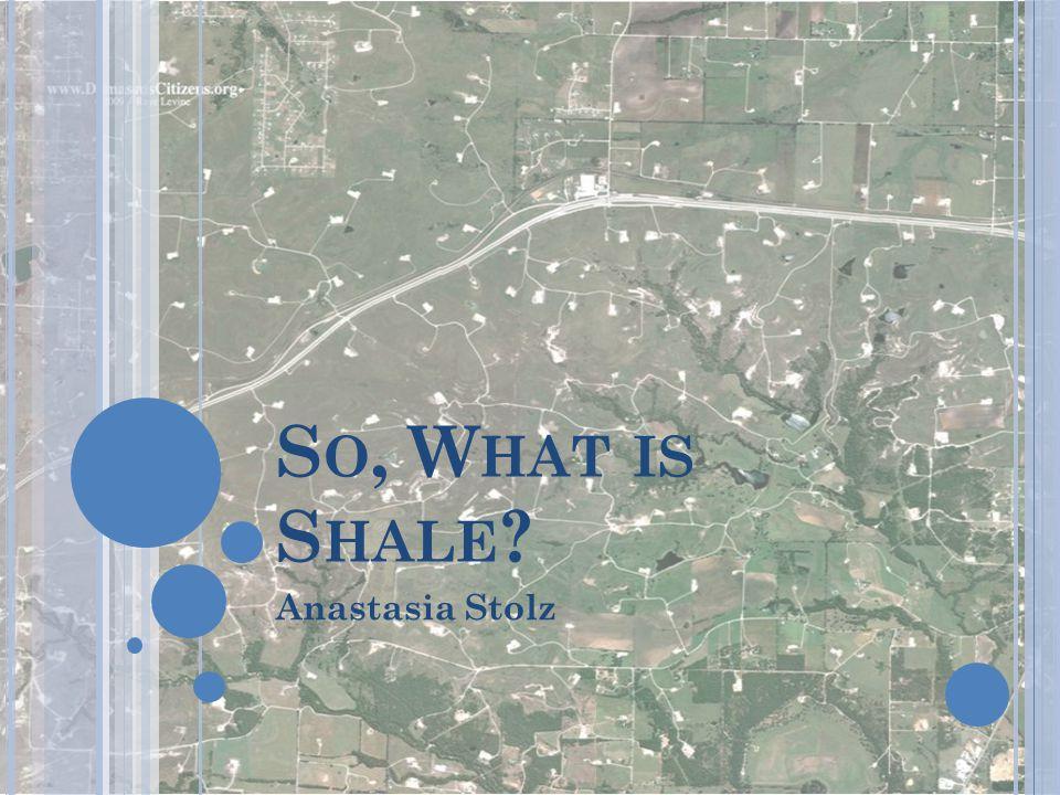 S O, W HAT IS S HALE ? Anastasia Stolz