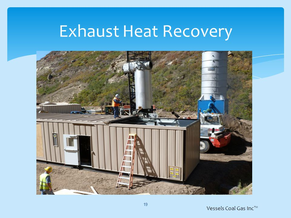 Exhaust Heat Recovery 19 Vessels Coal Gas Inc