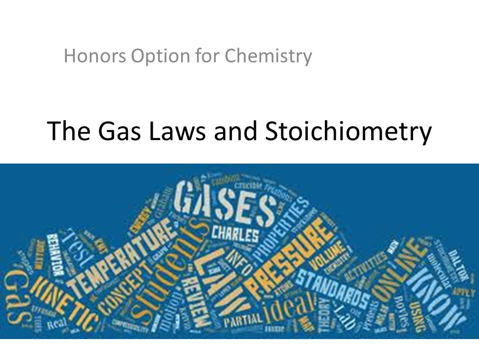 The Gas Laws and Stoichiometry Honors Option for Chemistry