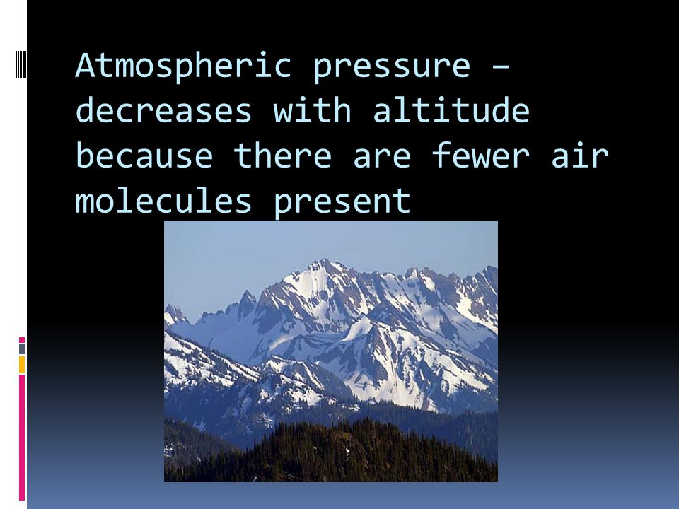 Common Units of Pressure Atmosphere (atm) Millimeters of Mercury (mmHg) Torr (torr) Pounds per square inch (lb/in 2 ) Pascal (Pa)