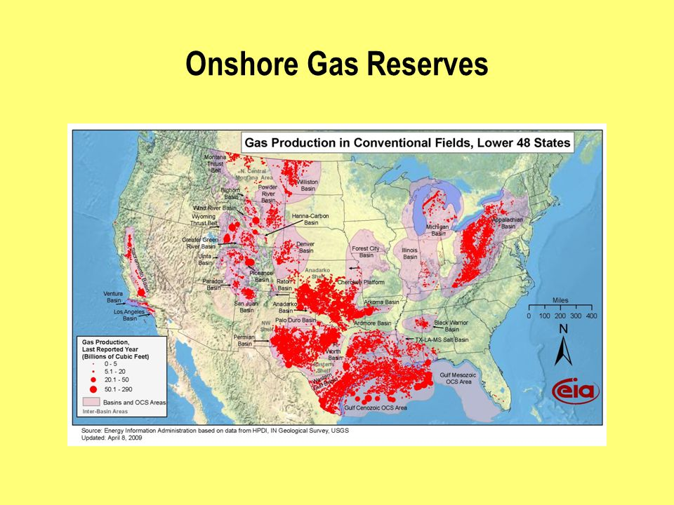 Onshore Gas Reserves