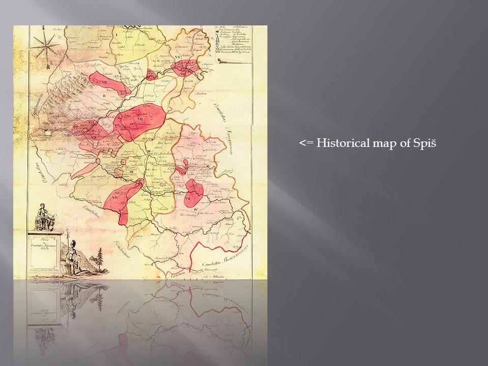 <= Historical map of Spiš