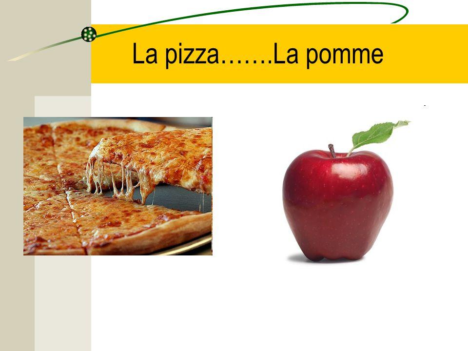 La pizza…….La pomme
