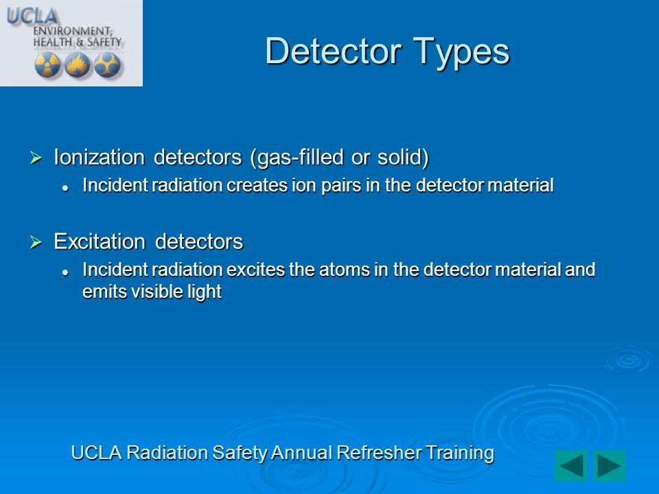 As all detectors measure radiation as a function of its observed effects, a correlation must be made between the effect and the incident radiation.
