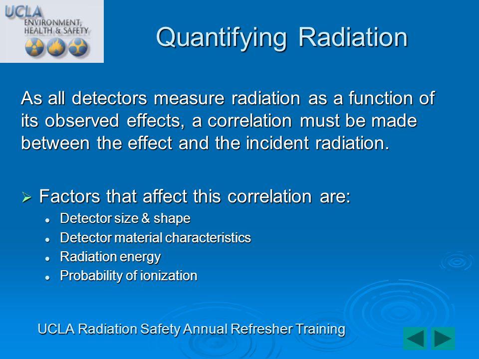 Scintillation Detectors UCLA Radiation Safety Annual Refresher Training
