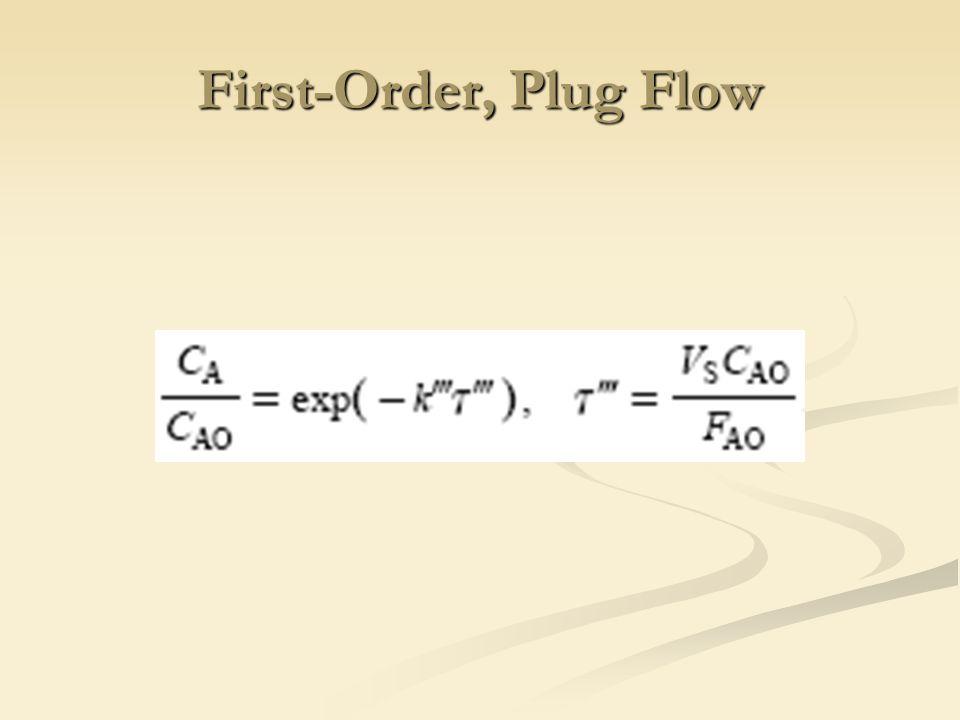 First-Order, Plug Flow
