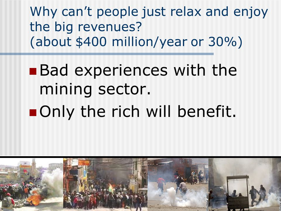 6 Why cant people just relax and enjoy the big revenues.