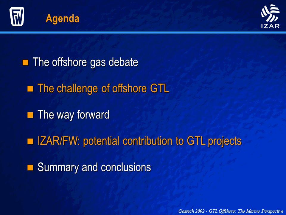 Agenda The offshore gas debate The offshore gas debate The challenge of offshore GTL The challenge of offshore GTL The way forward The way forward IZA