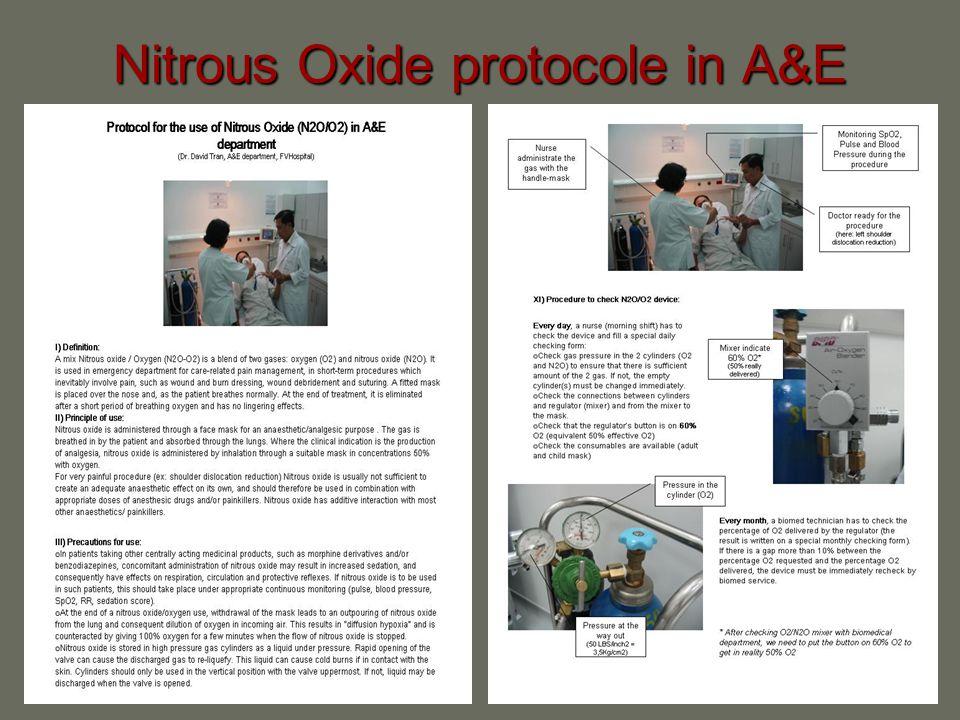 Nitrous Oxide protocole in A&E