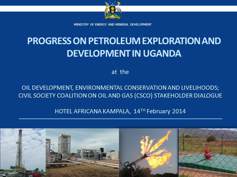 Ministry of Energy and Mineral Development, Petroleum Exploration and Production Department Processes of acquiring land in Kabaale, Buseruka Subcounty, Hoima for refinery development is on- going; Survey of the land was undertaken by the Ministry of Lands, Housing and Urban Devt.
