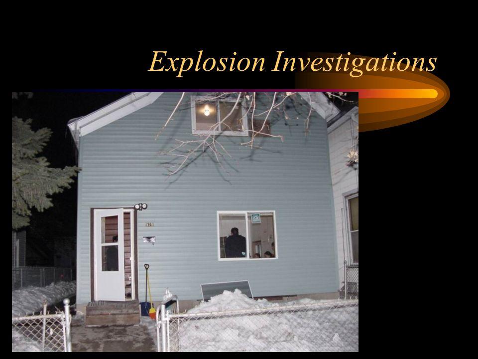 Explosion Investigations