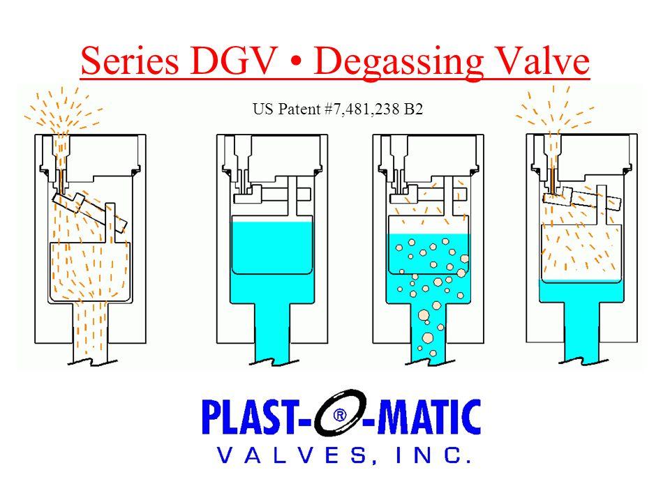 Series DGV DSeries DGV Degassing Valve US Patent #7,481,238 B2