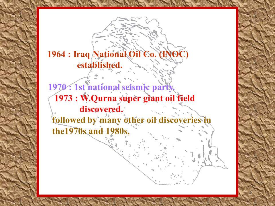 5 -Majnoon, E.Baghdad, Halfaya, Nasiriya, - Greater Nahr Umr.