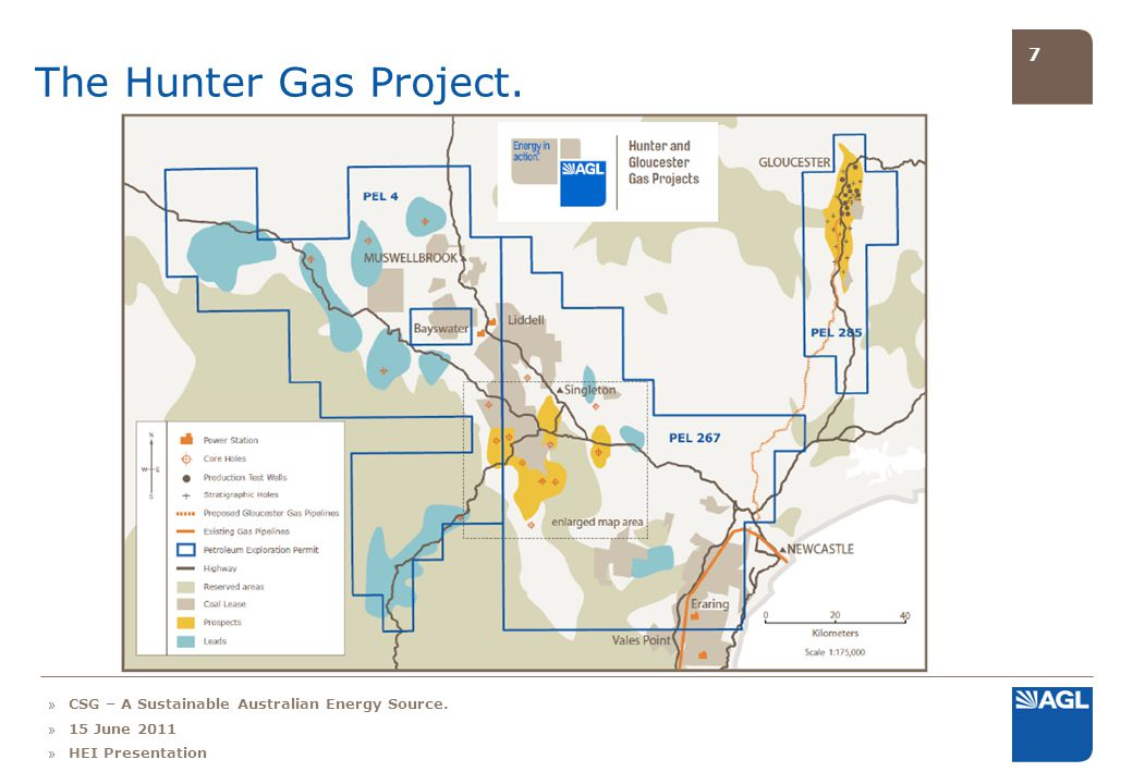 7 The Hunter Gas Project. » CSG – A Sustainable Australian Energy Source. » 15 June 2011 » HEI Presentation