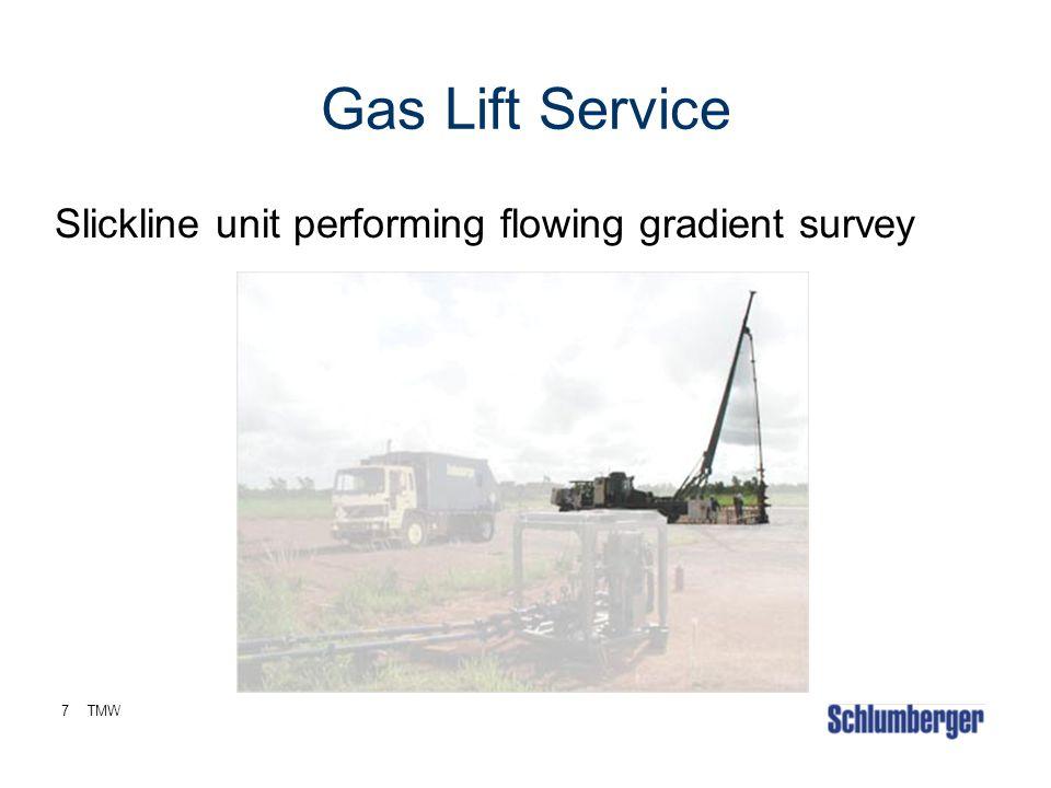 7TMW Gas Lift Service Slickline unit performing flowing gradient survey