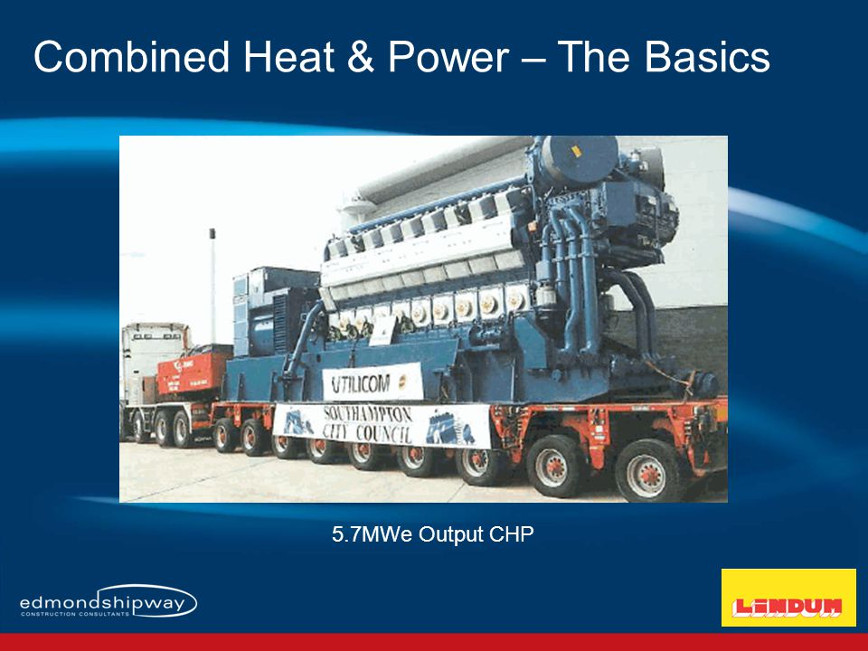Combined Heat & Power – The Basics The UK Electricity Grid Mix <45% Efficient Grid Electricity Generation produces 0.517Kg/CO2/kWh Expensive Energy 10pence/kWh Power Station Mix 100% Fuel 50% Electricity Grid Losses 45% Electricity Waste Heat