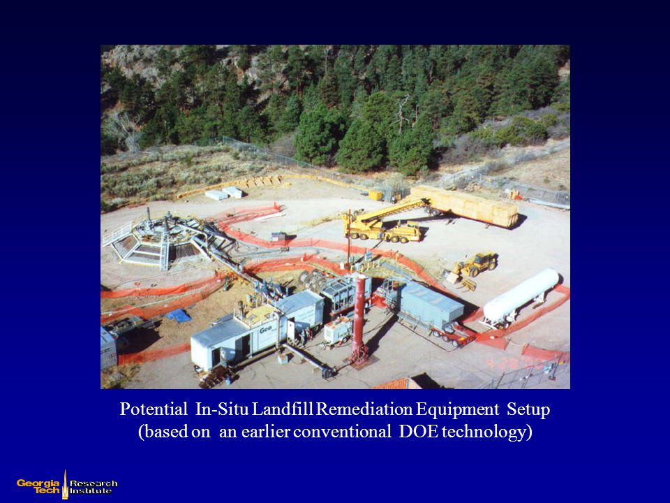 Potential In-Situ Landfill Remediation Equipment Setup (based on an earlier conventional DOE technology)