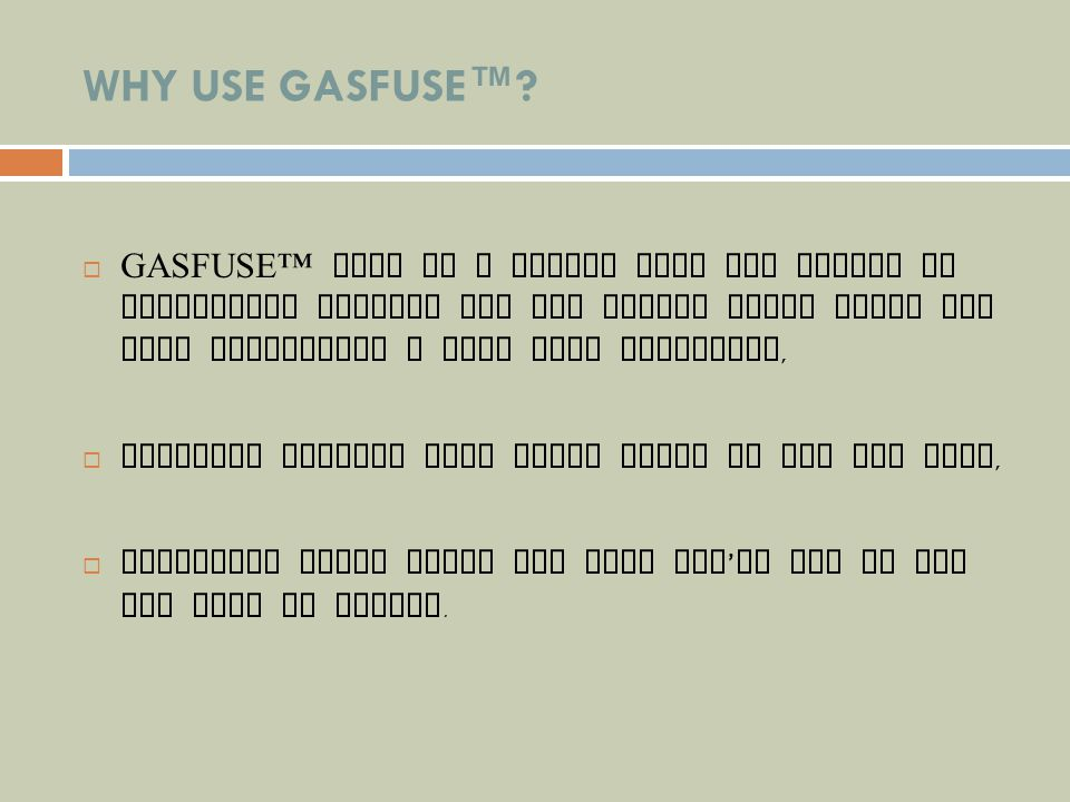 How to connect GASFUSE Gasfuse screws directly into an LPG cylinder.