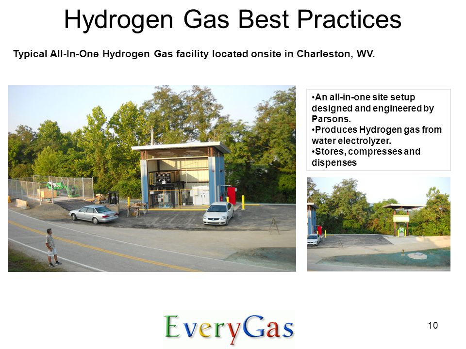 10 Hydrogen Gas Best Practices An all-in-one site setup designed and engineered by Parsons.