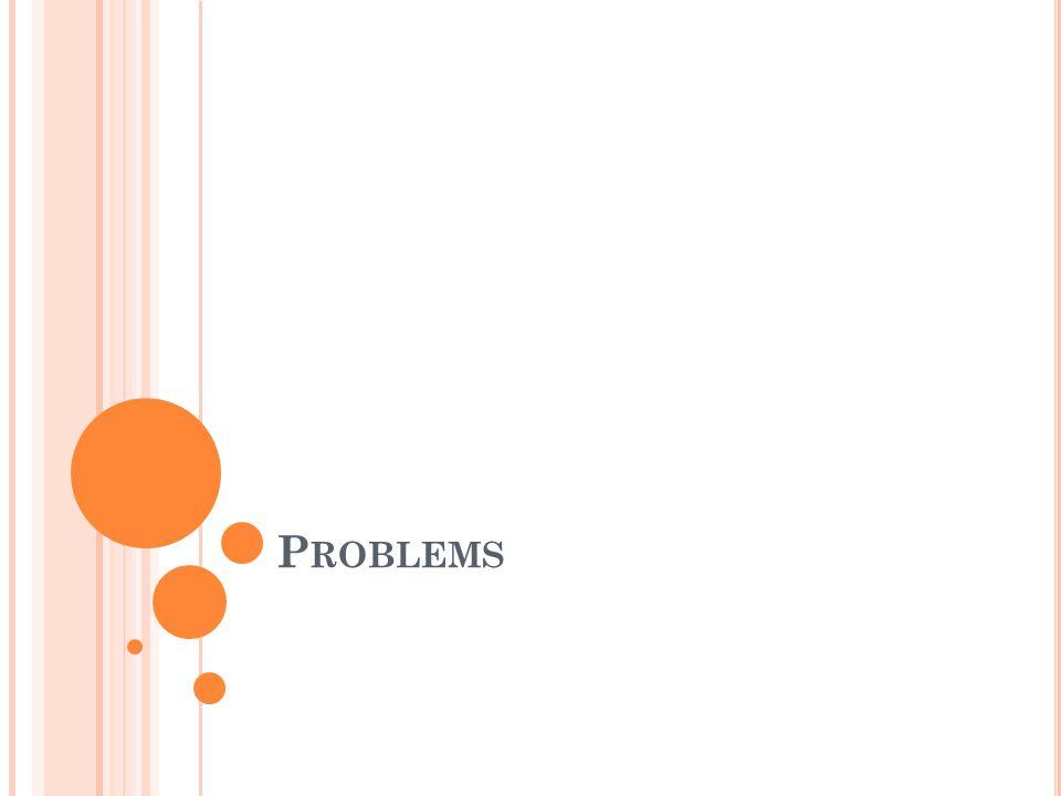 P ROBLEMS