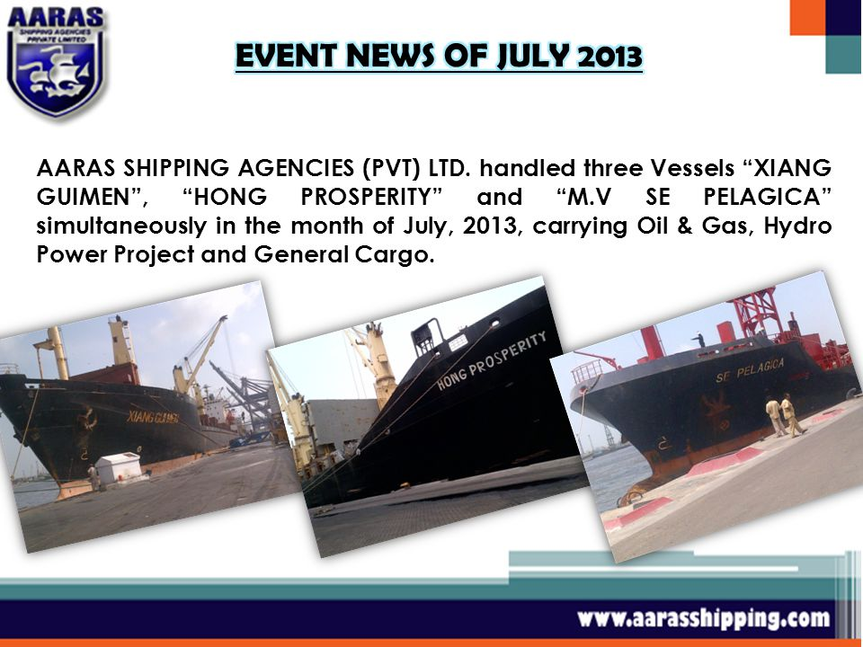 AARAS SHIPPING AGENCIES (PVT) LTD.