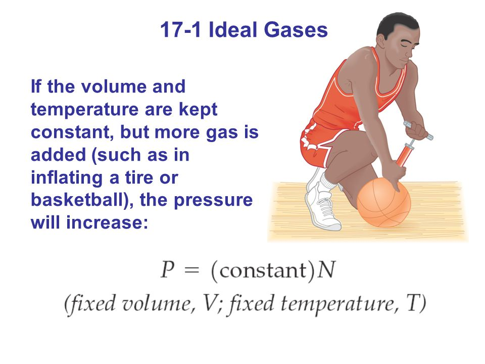 17-2 Kinetic Theory Pressure is the result of collisions between the gas molecules and the walls of the container.