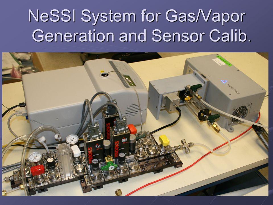 NeSSI System for Gas/Vapor Generation and Sensor Calib.
