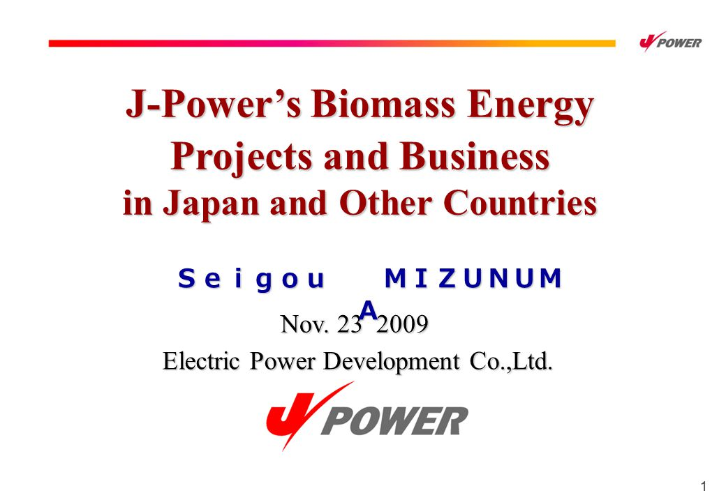 11 Nov. 23 2009 Electric Power Development Co.,Ltd.