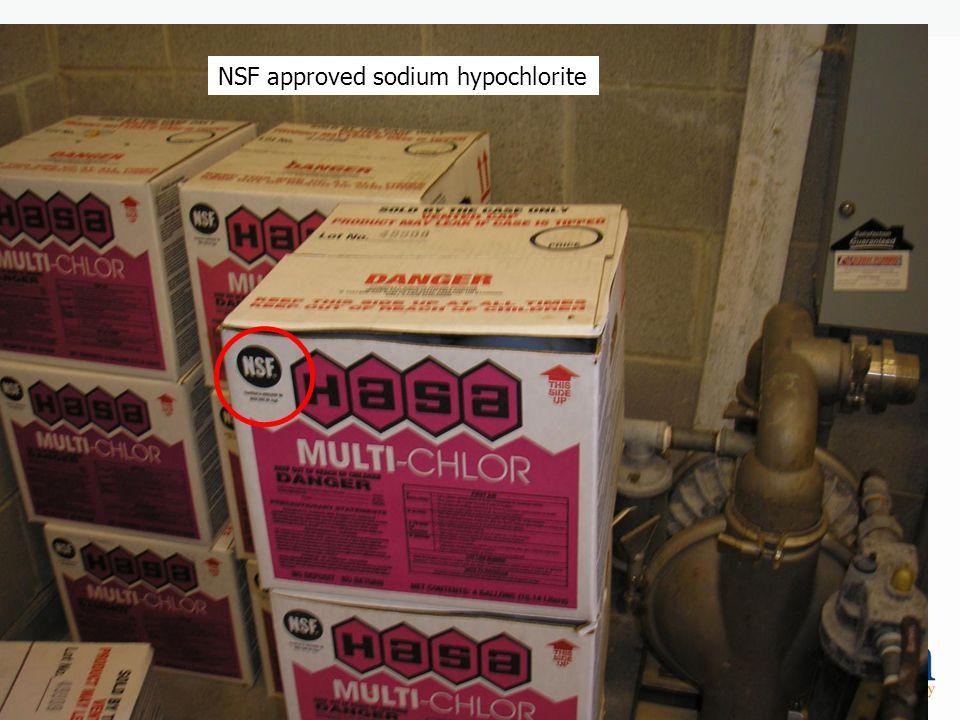 NSF approved sodium hypochlorite