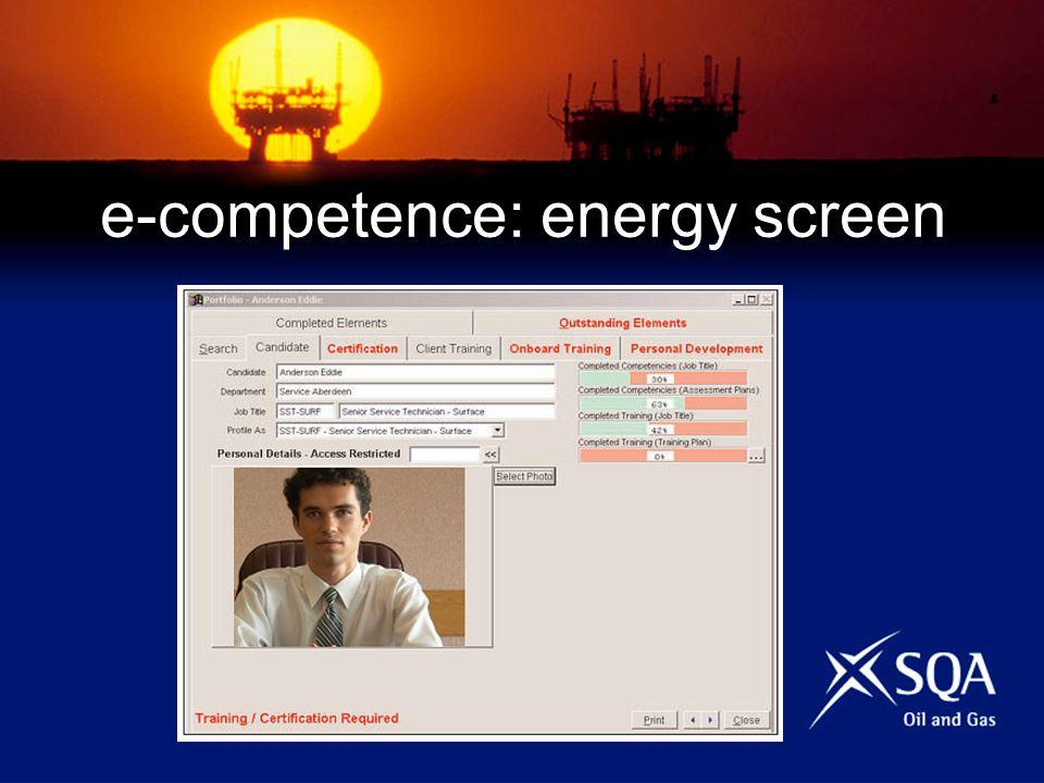 e-competence: energy screen