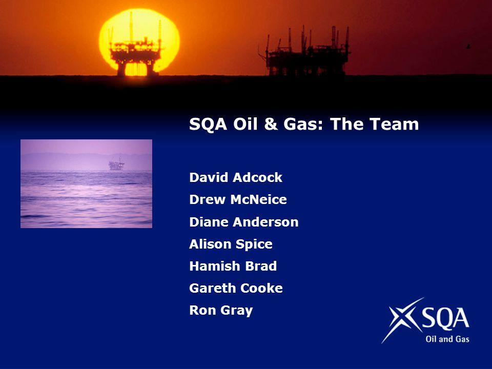 SQA Oil & Gas: The Team David Adcock Drew McNeice Diane Anderson Alison Spice Hamish Brad Gareth Cooke Ron Gray