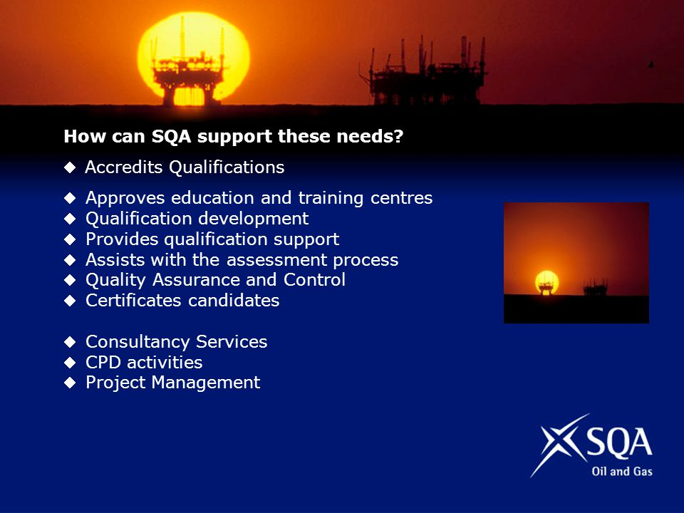 How can SQA support these needs.
