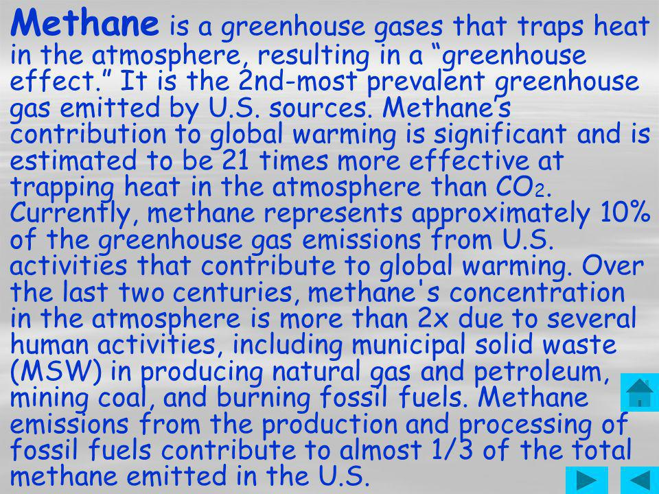 Methane Typical Methane Emissions in North America