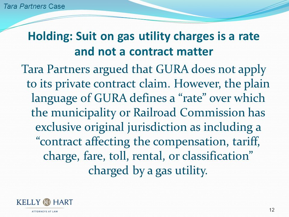 Tara Partners argued that GURA does not apply to its private contract claim.