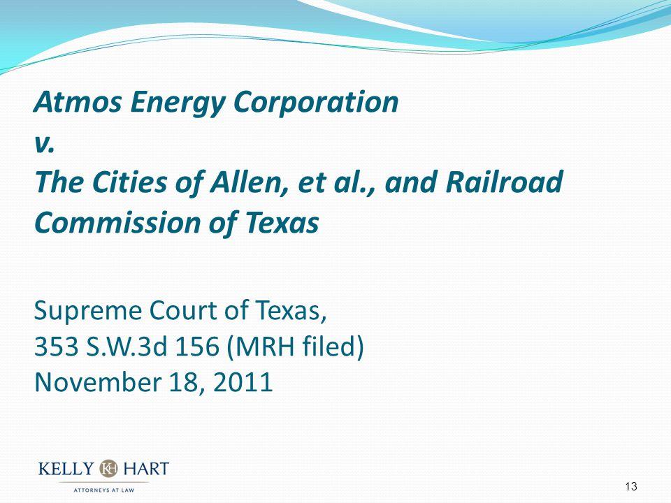 Atmos Energy Corporation v.