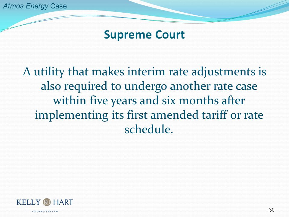A utility that makes interim rate adjustments is also required to undergo another rate case within five years and six months after implementing its first amended tariff or rate schedule.