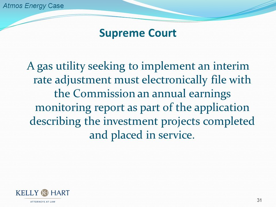 A gas utility seeking to implement an interim rate adjustment must electronically file with the Commission an annual earnings monitoring report as part of the application describing the investment projects completed and placed in service.