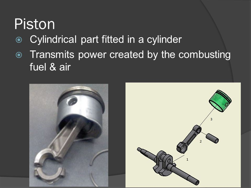 Piston Rings Seals the Piston to the Cylinder Wall