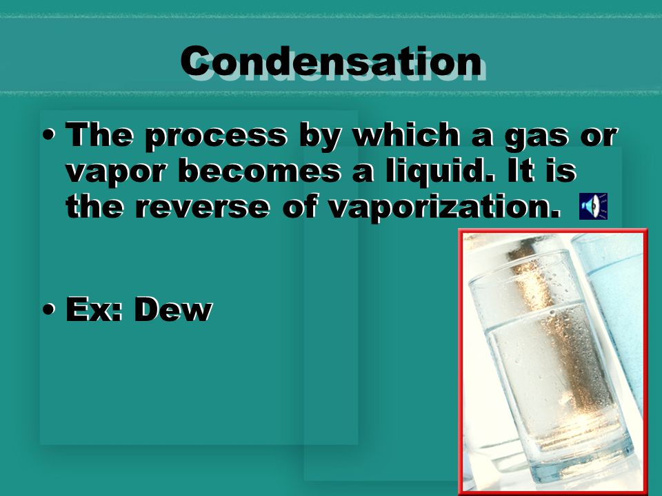 Sublimation Process by which particles of a solid escape from its surface and form a gas.
