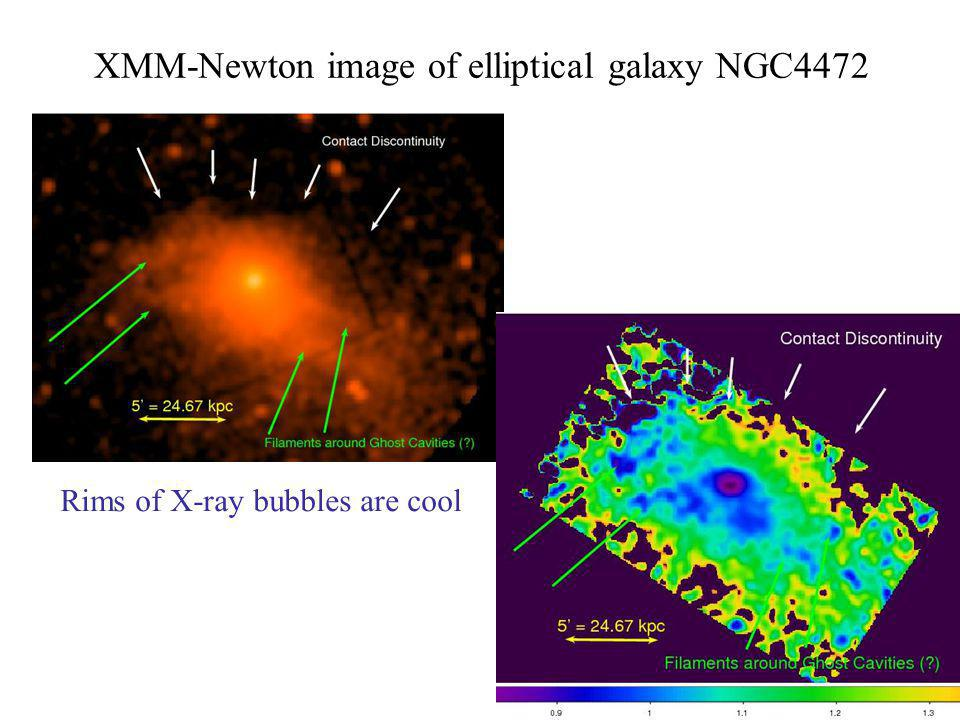 XMM-Newton image of elliptical galaxy NGC4472 Rims of X-ray bubbles are cool