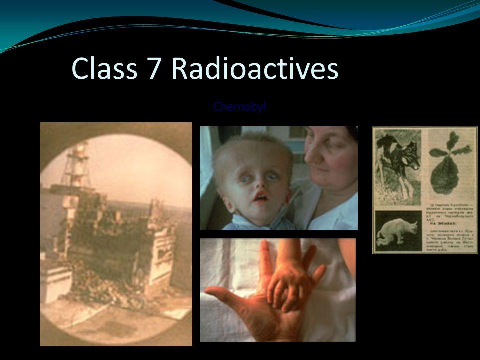 Class 7 Radioactives Chernobyl