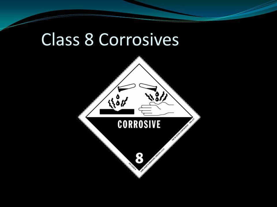 Class 8 Corrosives