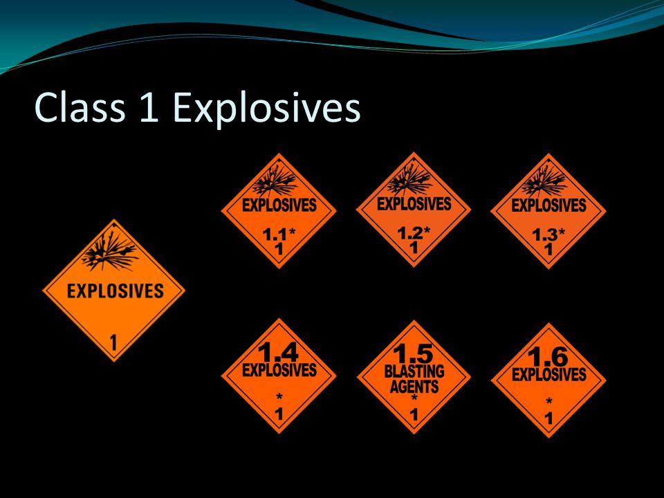Class 1 Explosives