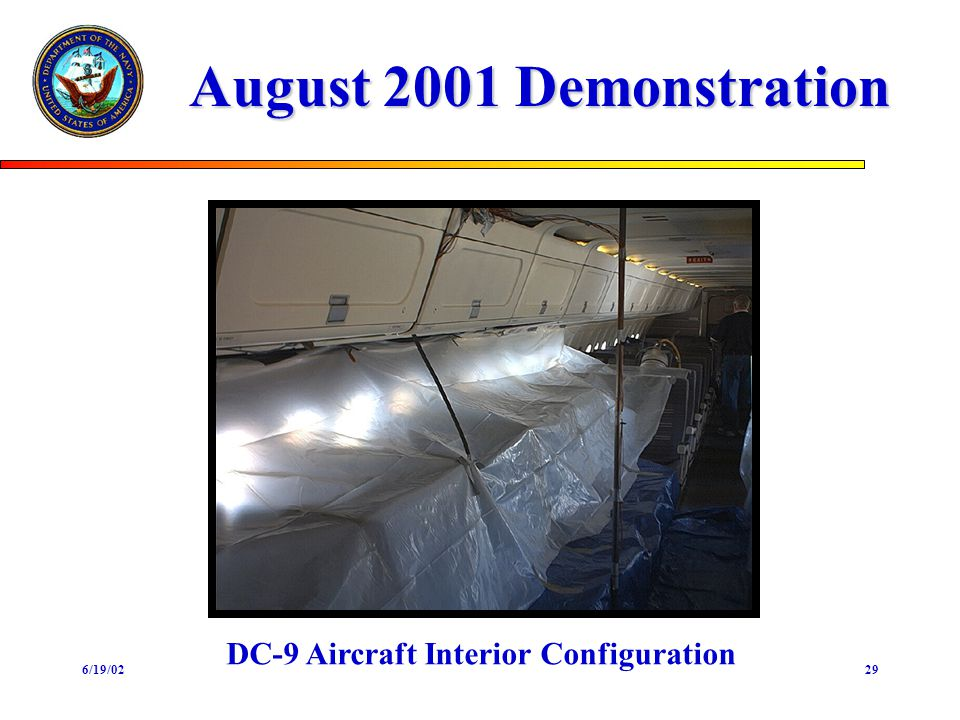 6/19/0229 August 2001 Demonstration DC-9 Aircraft Interior Configuration