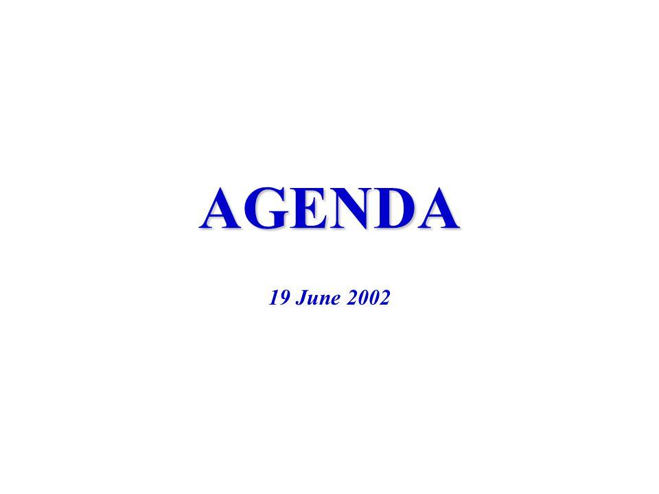 AGENDA 19 June 2002