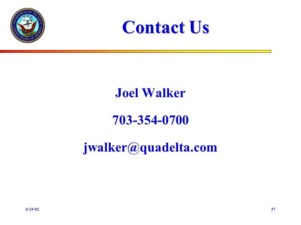 6/19/0237 Contact Us Joel Walker 703-354-0700 jwalker@quadelta.com
