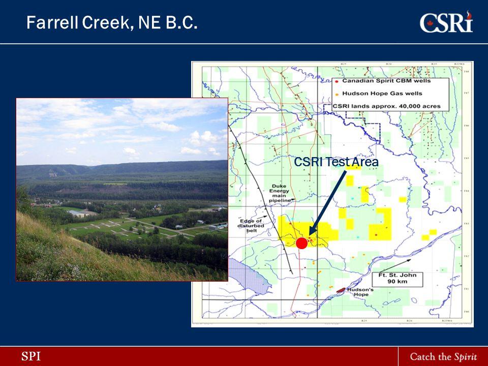 SPI Farrell Creek, NE B.C. CSRI Test Area