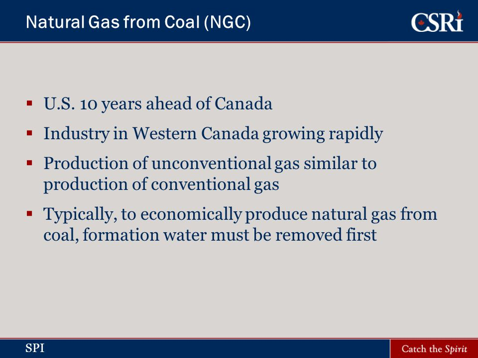SPI Natural Gas from Coal (NGC) U.S.