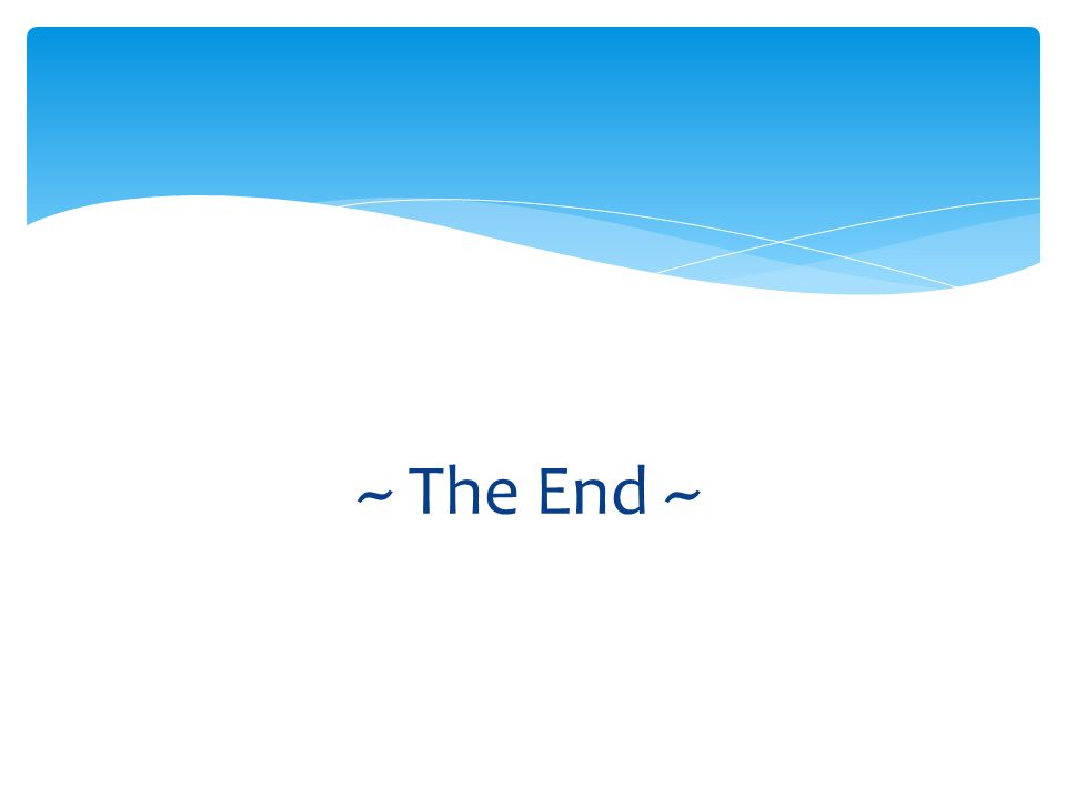 ~ The End ~